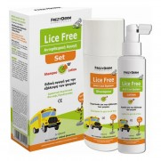 FREZYDERM LICE FREE SET  SHAMPOO125ML + LOTION 125ML+ ΧΤΕΝΑ